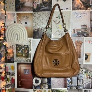 Tory Burch | Britten tan brown hobo bag